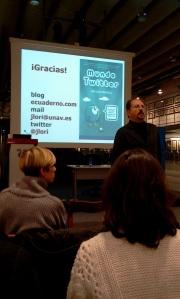 Orihuela en una conferencia en Coruña