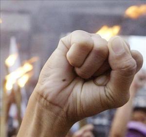 Manifestación contra la violencia machista en Chile