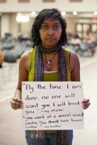Una víctima de violación denuncia