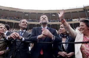 Rajoy en una corrida de toros